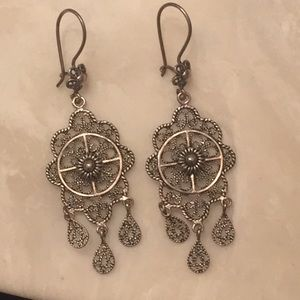 Antique Style Dream Catcher Earrings